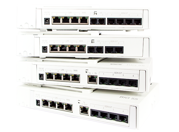 albis-elcon - BIG 55 Family: ISDN VoIP gateway with 4 ISDN S0 ports