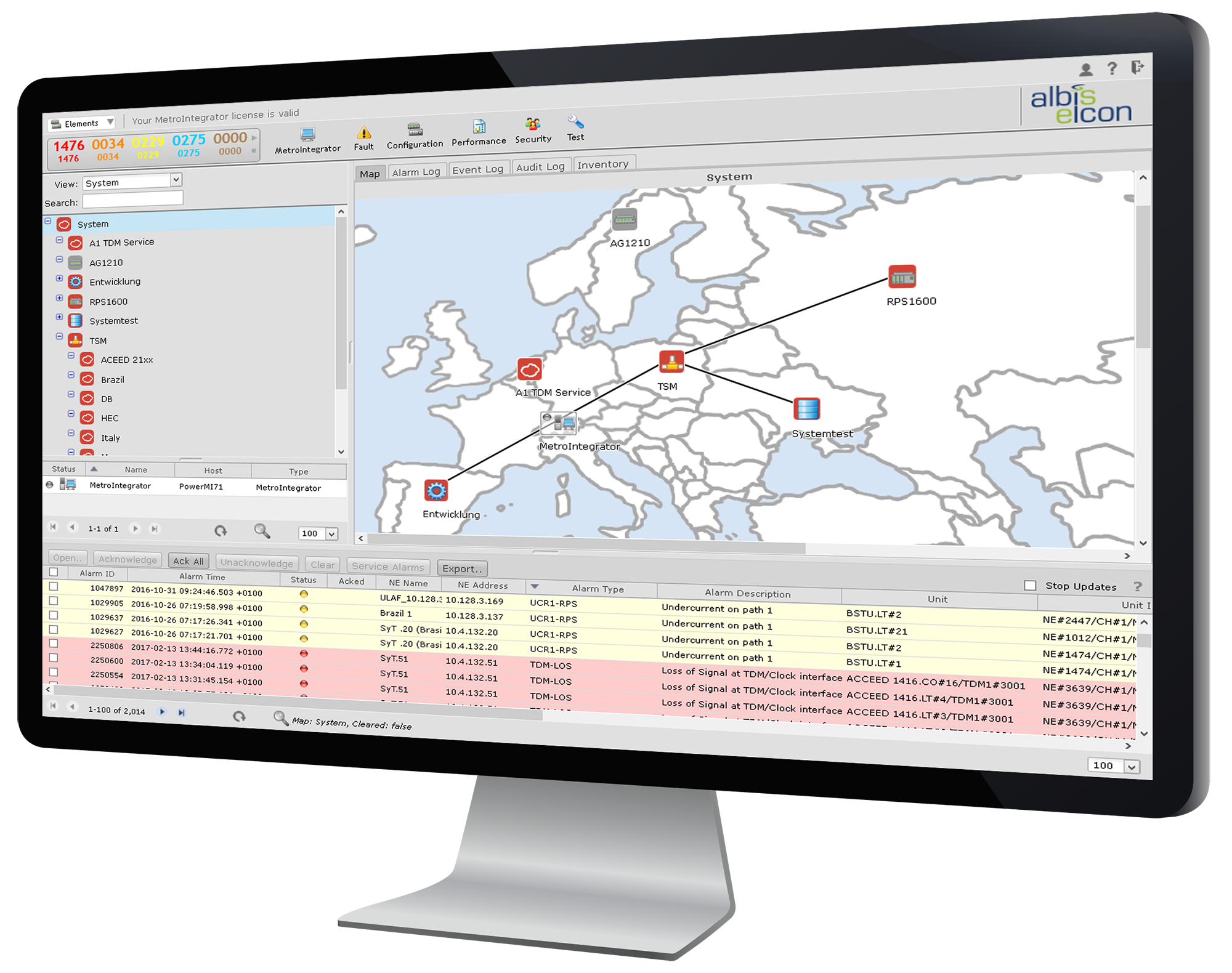 albis-elcon - MetroIntegrator: Network and Element Manager for the ULAF+ Access and Aggregation Platform