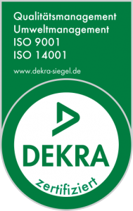 albis-elcon system Germany GmbH - Certificate Dekra (Logo): ISO 9001:2015, ISO 14001:2015